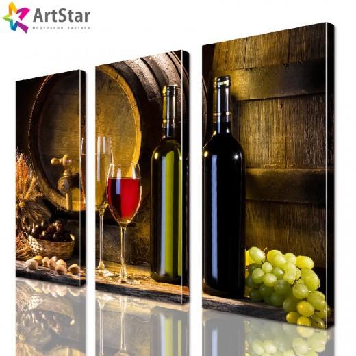 Картина модульная - Вино, Art. kit_0012