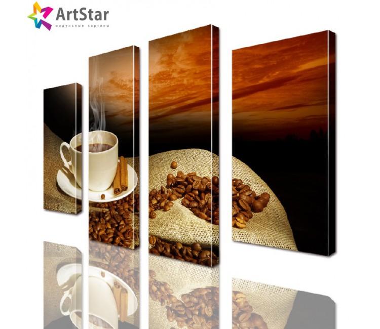 Модульная картина - чашка кофе, Art. kit_0074
