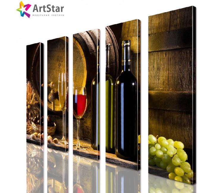 Модульные картины - Вино, Art. kit_0092