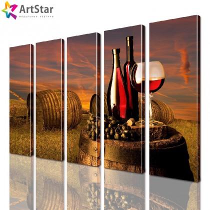 Модульные картины - бочка вина, Art. kit_0097