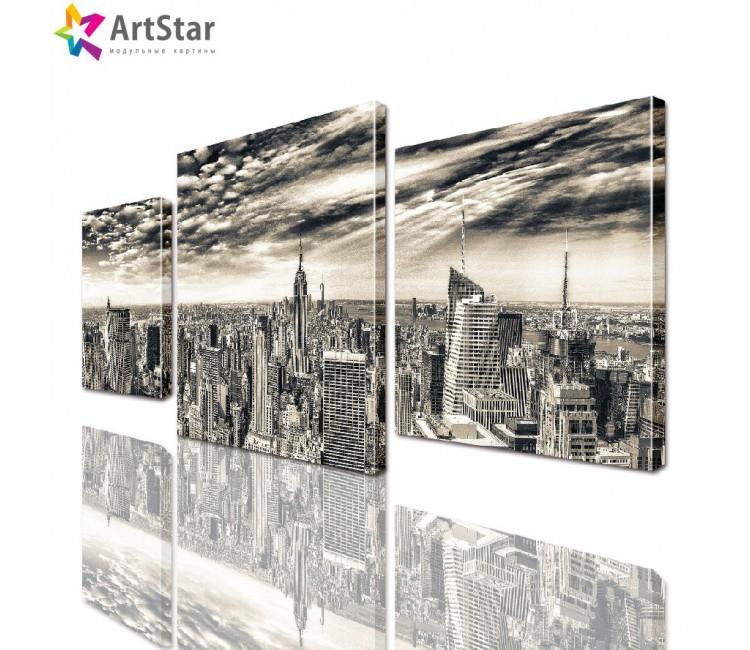Модульная картина - Город, Art. sity_0063
