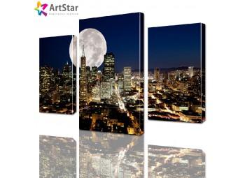 Модульная картина - Ночной город, Art. sity_0094