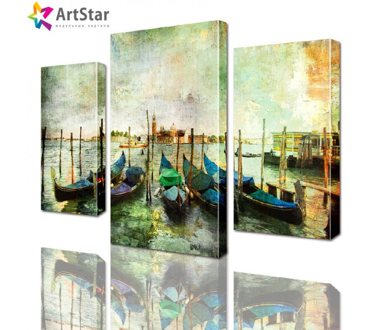Модульная картина - Лодки Венеция, Art. sity_0096