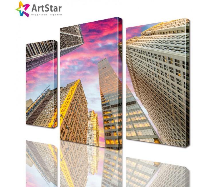 Модульная картина - Город, Art. sity_0116