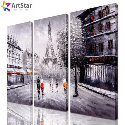 Модульная картина - Эйфелева башня, Art. sity_0355