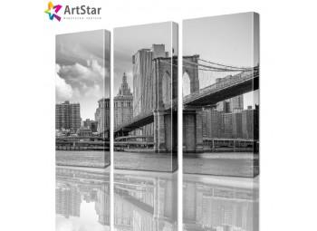 Модульная картина - Бруклинский мост, Art. sity_0017