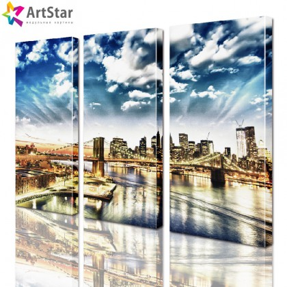 Модульная картина - Город, Art. sity_0029