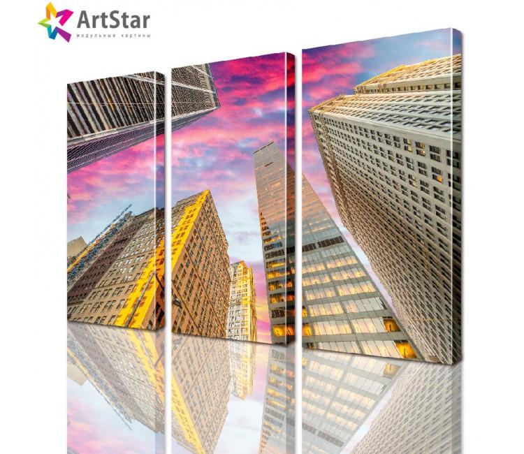 Модульная картина - Город, Art. sity_0057
