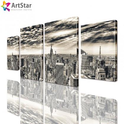 Модульные картины - Мегаполис, Art. sity_0182