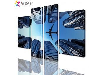 Модульные картины - Самолет, Art. sity_0222
