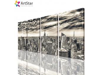 Модульные картины - Вид на город, Art. sity_0120