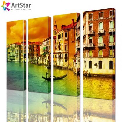 Модульные картины - Винтажная Венеция, Art. sity_0150