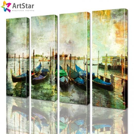 Модульные картины - Венецианские гондолы, Art. sity_0153
