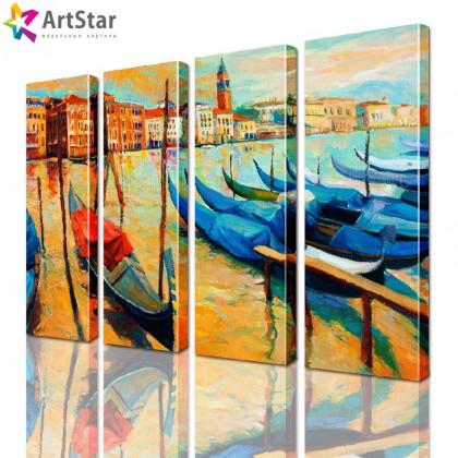 Модульные картины - Венеция картина маслом, Art. sity_0157