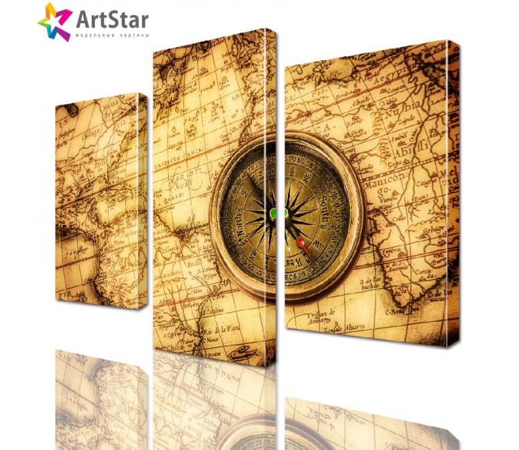 Модульная картина - Карта, Art. inter_0021