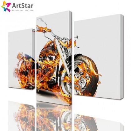 Модульная картина - Мотоцикл, Art. inter_0023