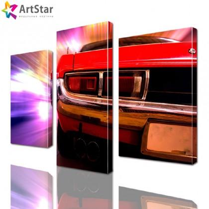 Модульная картина - красный спорткар, Art. inter_0026