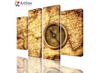 Модульная картина - Старинная карта, Art. inter_0049