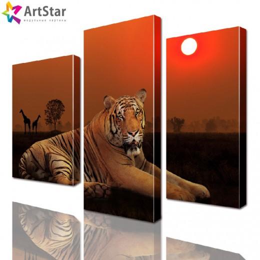 Картина модульная - Тигр, Art. anml_0042