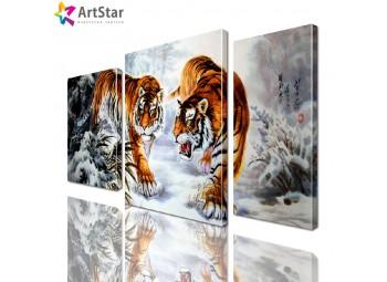Картина модульная - Тигры, Art. anml_0193