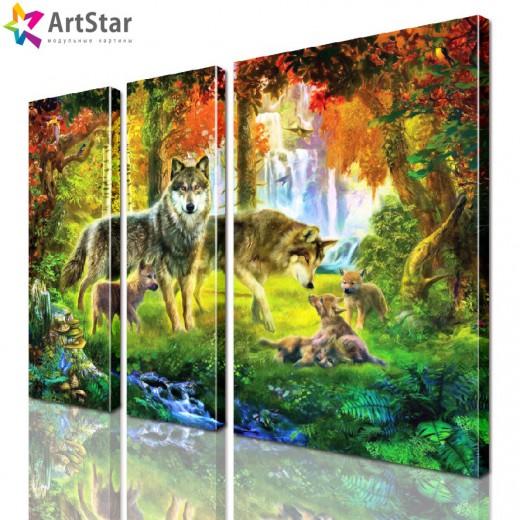 Картина модульная - Животные, Art. anml_0169