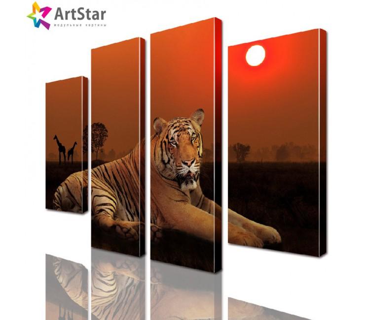Модульная картина - Красивый тигр, Art. anml_0090