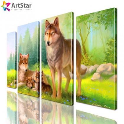 Модульная картина - Животные, Art. anml_0236