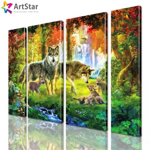 Модульная картина - Животные, Art. anml_0213