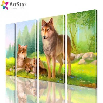 Модульная картина - Животные, Art. anml_0214