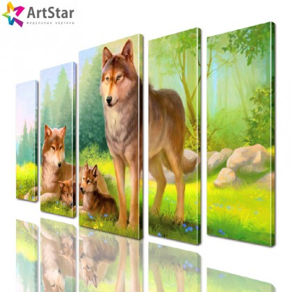 Модульные картины - животные, Art. anml_0279