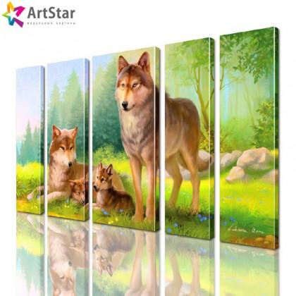 Модульные картины - животные, Art. anml_0257