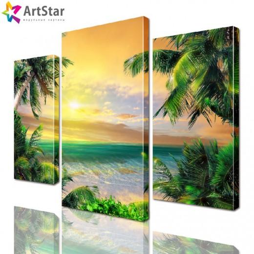 Модульная картина - Тропический пляж, Art. more_0026