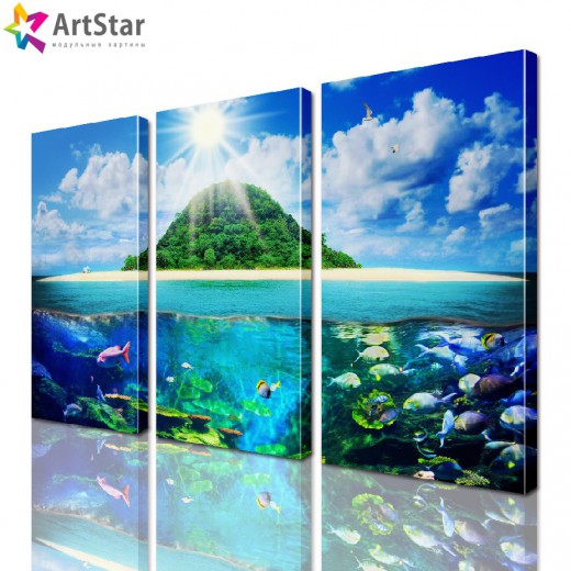 Модульная картина - Морской пейзаж, Art. more_0015