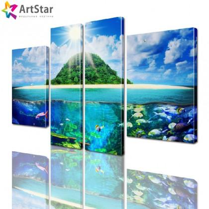 Модульная картина - Морской пейзаж, Art. more_0063