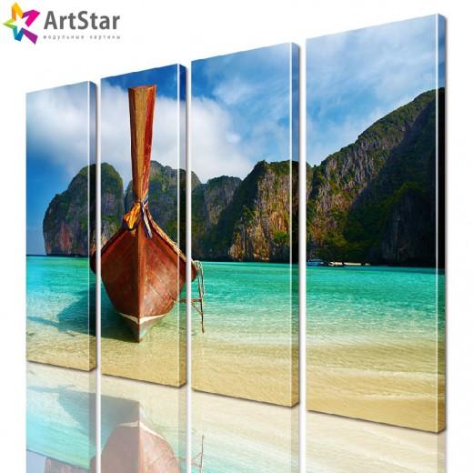 Модульная картина - Морской пейзаж, Art. more_0041