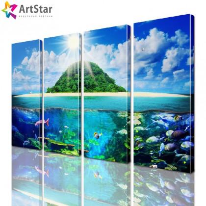 Модульная картина - Морской пейзаж, Art. more_0047