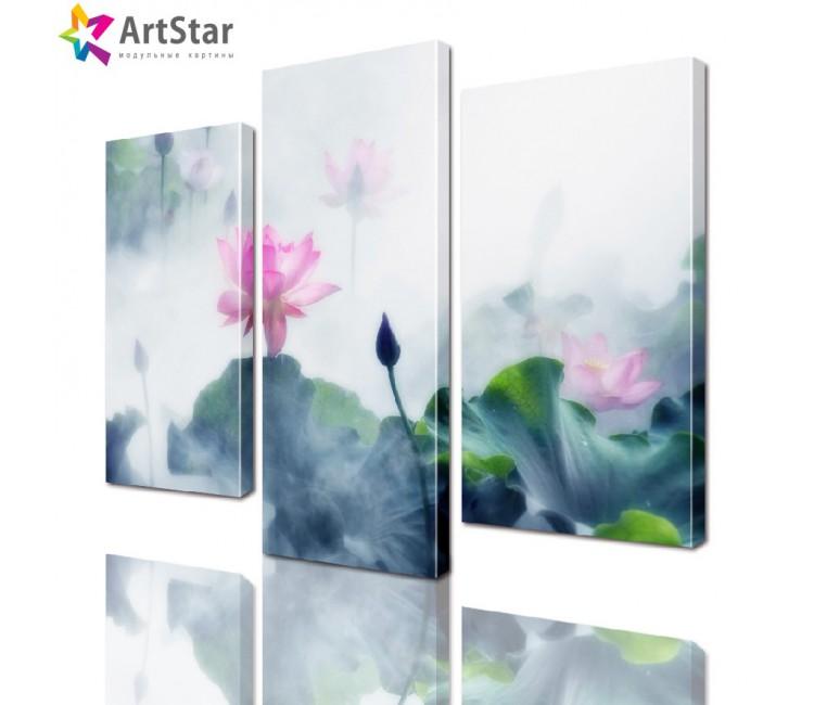 Модульная картина - Водяные лилии, Art. natrl_0047