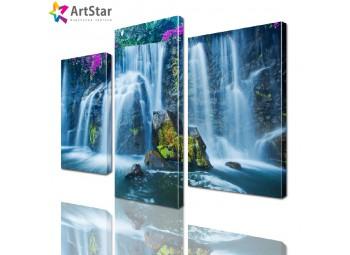 Модульная картина - Красивый водопад, Art. natrl_0049