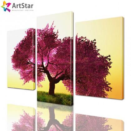 Модульная картина - Дерево, Art. natrl_0050