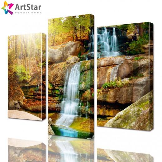 Модульная картина - Красивый водопад, Art. natrl_0052
