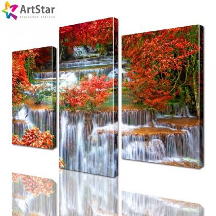 Модульная картина - Горная река с водопадом, Art. natrl_0055