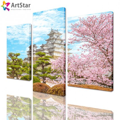 Модульная картина - Сакура, Art. natrl_0060