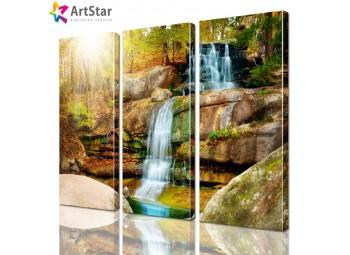 Картина модульная - Водопад, Art. natrl_0022